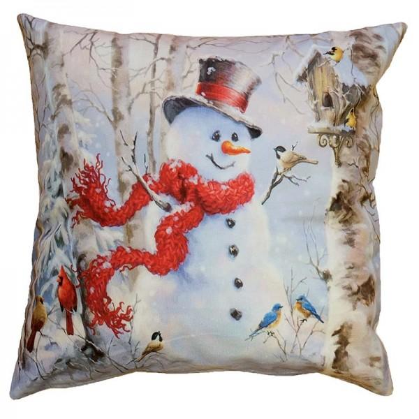 Vankúšová obliečka Roztomilý snehuliak