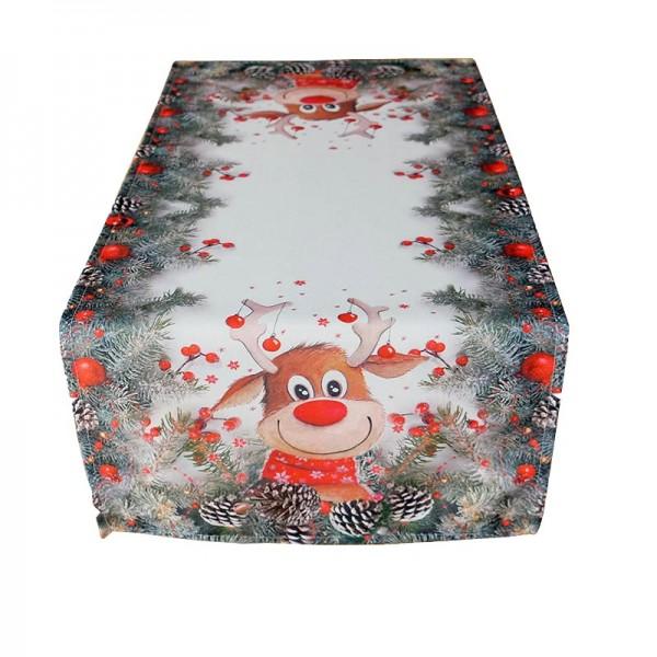 Obrus Vianočný sob Rudolf 40x90 cm