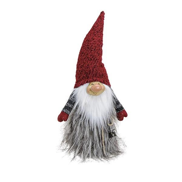 Vianočný LED trpaslík s červenou čiapkou 50 cm