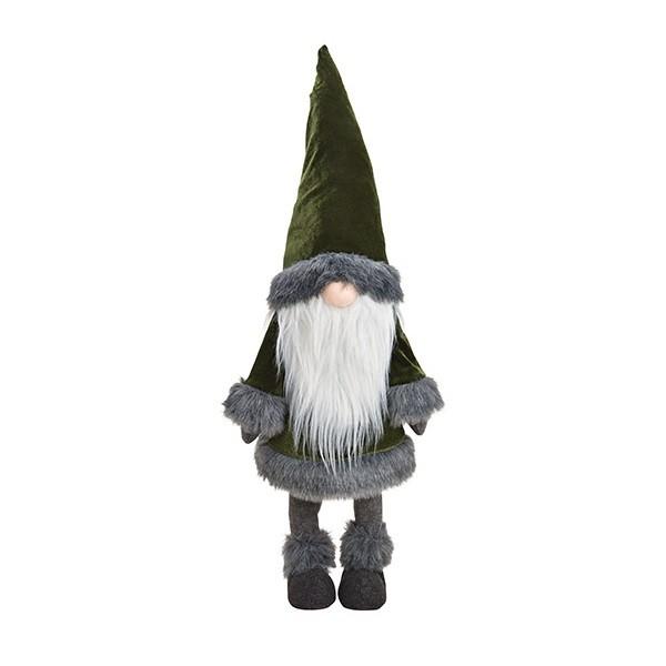 Vianočný škriatok Plus – zelený 83 cm
