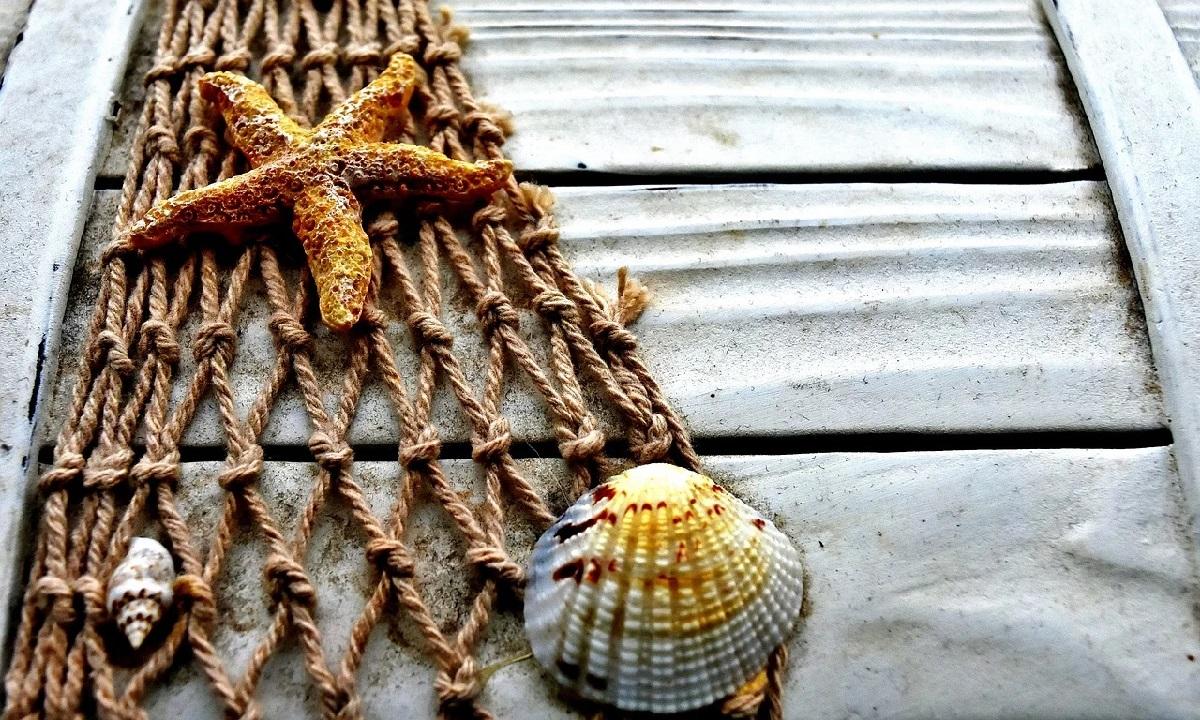Dekoračná rybárska sieť
