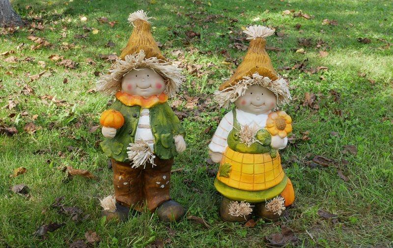 Jesenné záhradné figúrky
