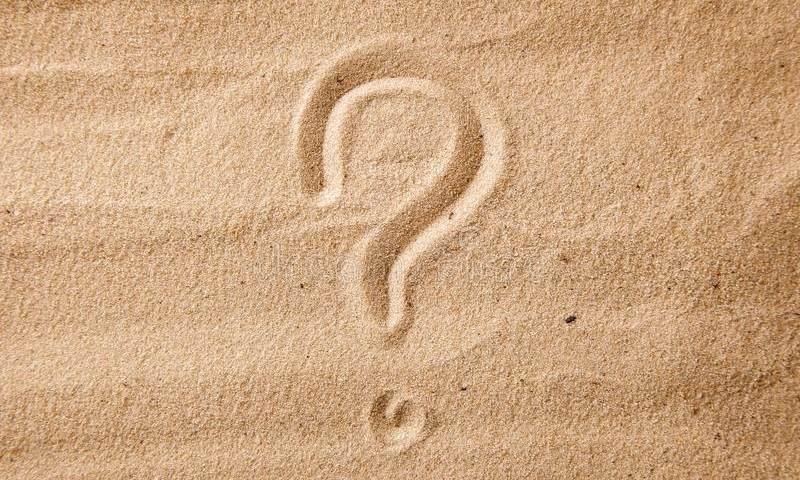 Otáznik v piesku